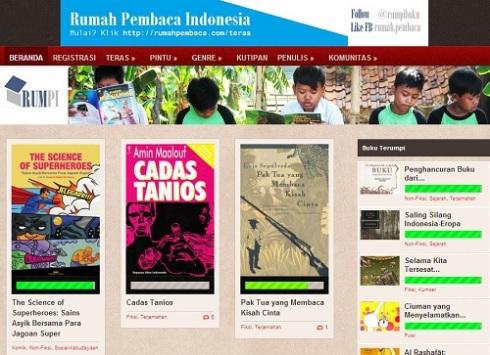 Screenshot Rumah Pembaca Indonesia/RUMPI http://rumahpembaca.com