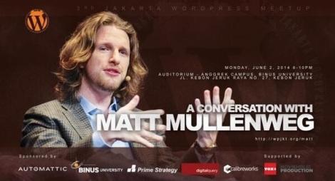 """""""A Conversation with Matt Mullenweg"""" (dok. WPJakarta)"""