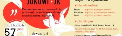 Lomba Menulis Kisah Relawan Jokowi-JK (Sumber: Seknas Jokowi)